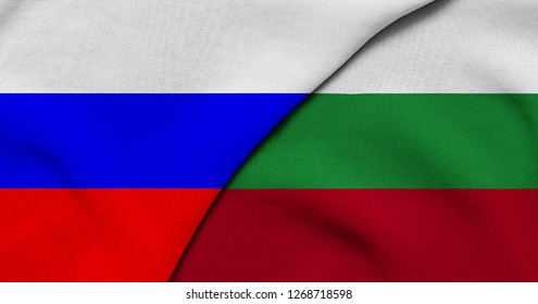 Flag of Russia and Bulgaria