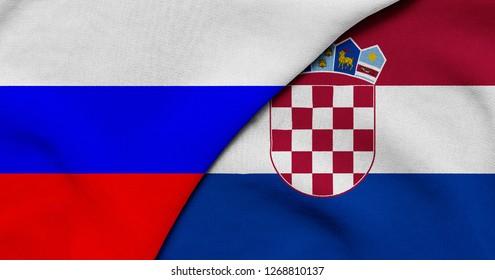 Flag of Russia and Croatia