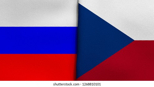 Flag of Russia and Czech Republic