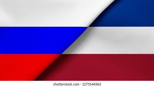 Flag of Russia and Serbia and Montenegro