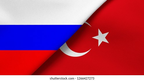 Flag of Russia and Turkey