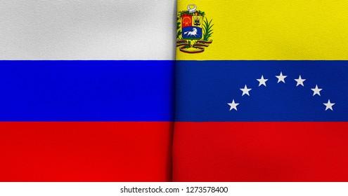 Flag of Russia and Venezuela