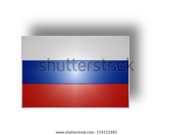 Flag of the Russian Federation (stylized I).