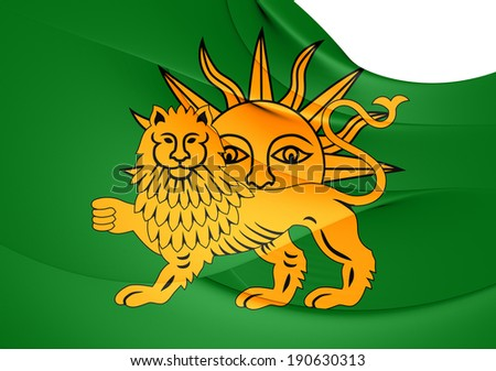 flag safavid dynasty close up stock illustration 190630313