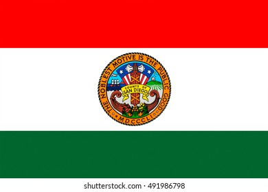 Flag of San Diego is a County in California, United States