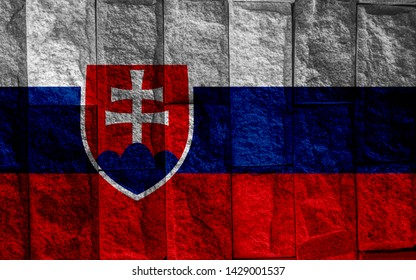 Flag of Slovakia. page symbol for your web site design Slovakia flag logo, app, UI. Slovakia flag Vector illustration,