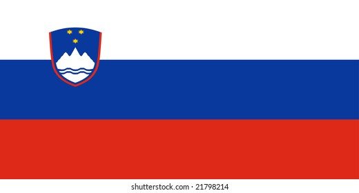Flag of Slovenia, national country symbol illustration