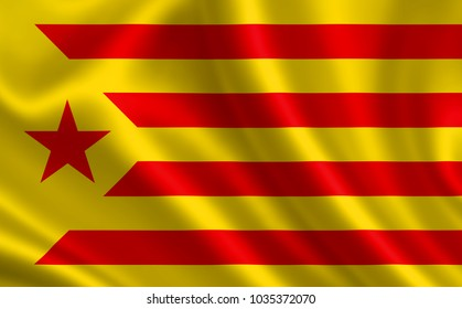 Flag of the socialist movement of Catalonia.