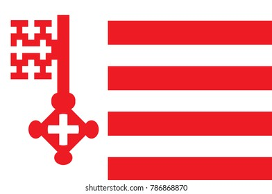 Flag of Soest is a city in North Rhine-Westphalia, Germany. 3d illustration