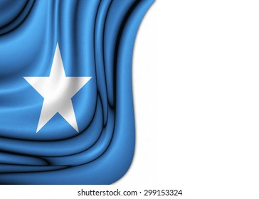 Flag of Somalia dropped gently with soft and elegant curves drawn on silk fabric