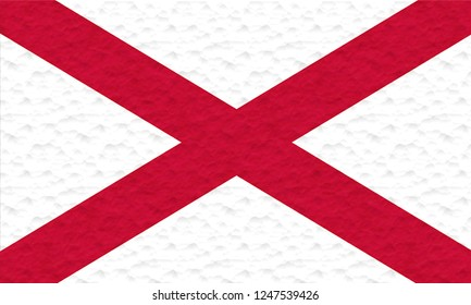 Flag of ST. PATRICK SALTIRE IRISH Location of England  made of plasticine