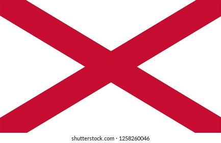 Flag of ST. PATRICK SALTIRE IRISH Location of England