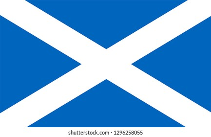 Flag of ST ANDREW'S SALTIRE SCOTTISH