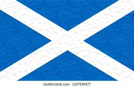 Flag of ST ANDREW'S SALTIRE SCOTTISH Location of England  made of plasticine