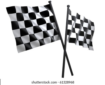 flag of start or finesha, done in 3d