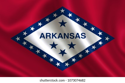 """Flag of the state Arkansas. A series of """"flags of the United States of America"""""""