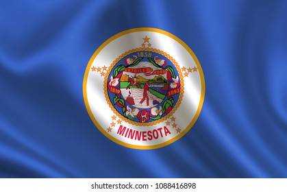 """Flag of the state Minnesota. A series of """"flags of the United States of America"""""""