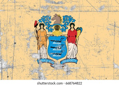 The Flag Of The State Of New Jersey