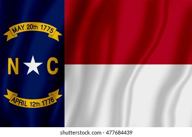 Flag of the State of North Carolina (3D illustration)