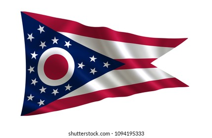 """Flag of the state Ohio. A series of """"flags of the United States of America"""""""