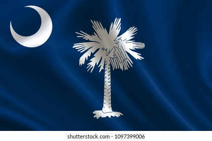 """Flag of the state South Carolina. A series of """"flags of the United States of America"""""""