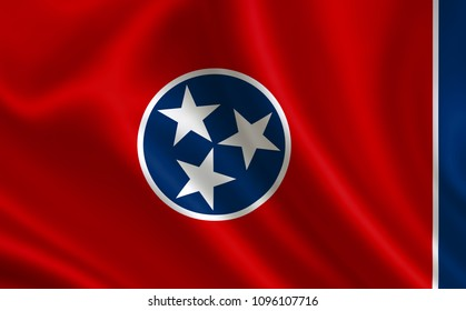 """Flag of the state Tennessee. A series of """"flags of the United States of America"""""""