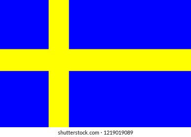 Flag of Sweden in minimalistic design and high quality