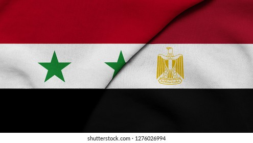 Flag of Syria and Egypt