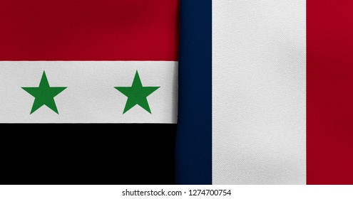 Flag of Syria and France