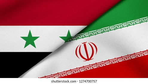 Flag of Syria and Iran