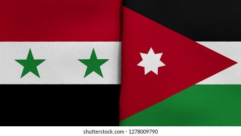 Flag of Syria and Jordan