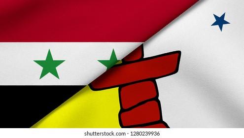 Flag of Syria and Nunavut