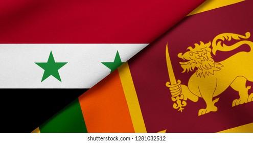 Flag of Syria and Sri Lanka
