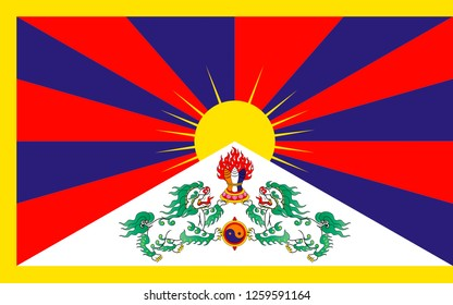 Flag of Tibet and the government in exile with seat in India.