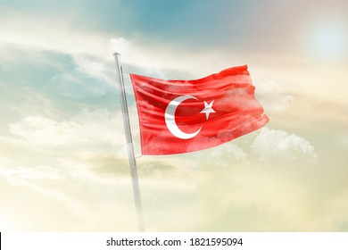 flag of Turkey - 3D render