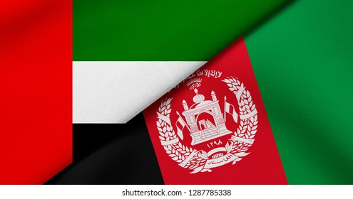 Flag of United Arab Emirates and Afghanistan
