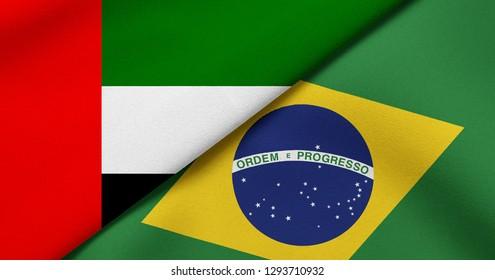 Flag of United Arab Emirates and Brazil