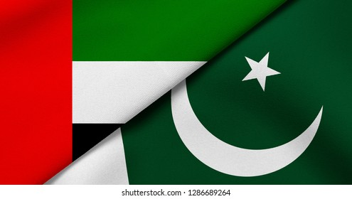 Flag of United Arab Emirates and Pakistan