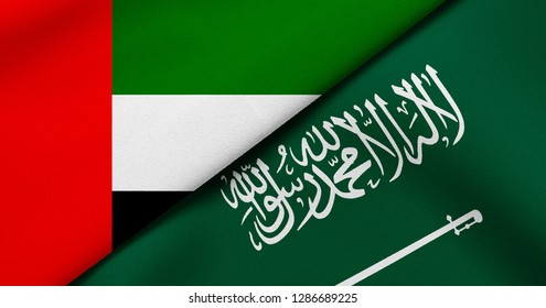 Flag of United Arab Emirates and Saudi Arabia