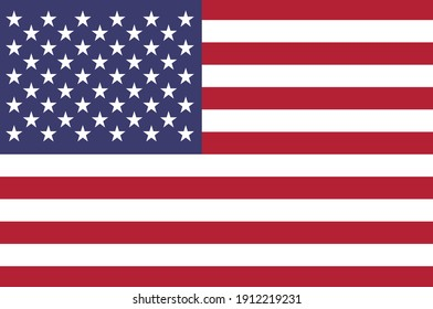 Flag of United States of America is a country primarily located in North America. 3d illustration