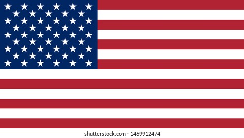 flag of the United States of America. illustration of wavy American Flag for Independence Day. American flag on white background