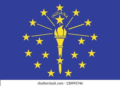 The flag of the United States of America State Indiana