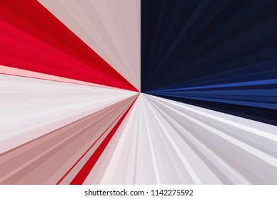 Flag of the USA. Abstract rays background. Stripes beam pattern. Stylish illustration modern trend colors backdrop.