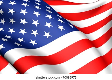 Flag of USA. Close up.