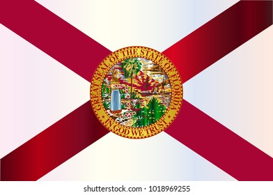 The flag of the USA state of Florida