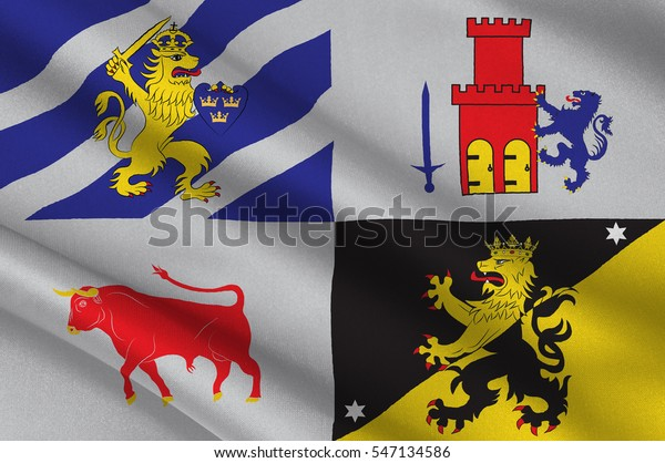 Flag Vastra Gotaland County County On Stock Illustration 547134586