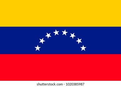 Flag of Venezuela. Symbol of Independence Day