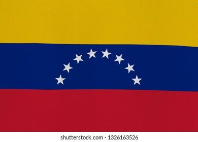 The flag of Venezuela is uneven, spoiled.