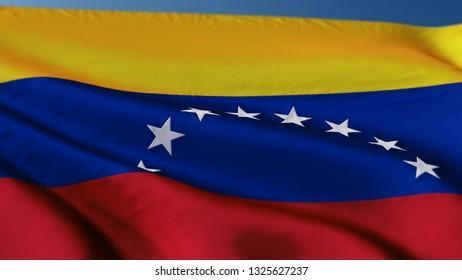 Flag Venezuela VE 3d rendering