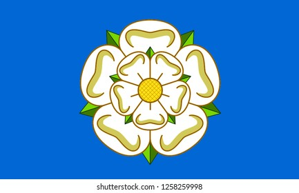 Flag of YORKSHIRE COUNTY Location of England